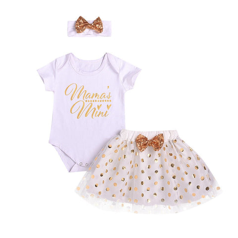 Cute princess costume Kids Baby Girl Letter