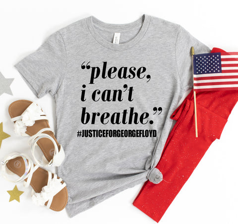 Please I can't breathe T-shirt