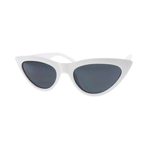 MQ Cardi Sunglasses in White / Smoke