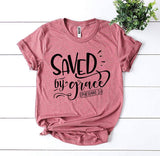 Saved By Grace Ephesians 2:8 T-shirt