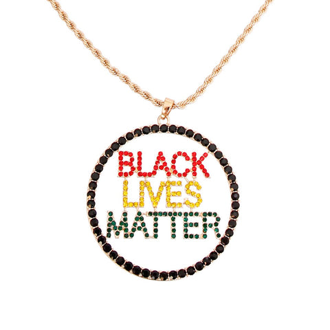 BLACK LIVES MATTER Round Multi Necklace