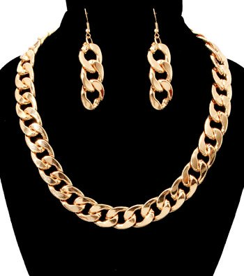 Toggle Chain Necklace Set - Heavy!  Weighs 7 oz
