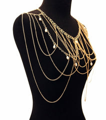 Gold and Pearl Shoulder Chain