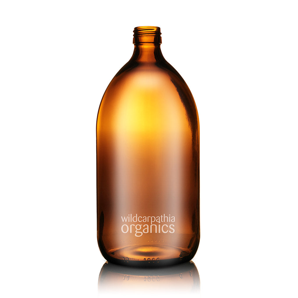 Wild Carpathia Organics - Amber Glass Bottle, 1000ml