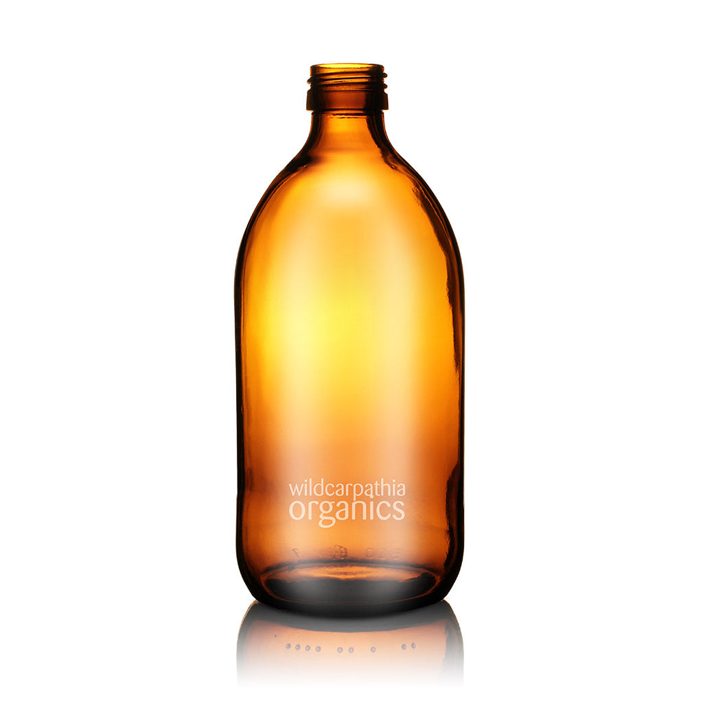 Wild Carpathia Organics - Amber Glass Bottle, 500ml