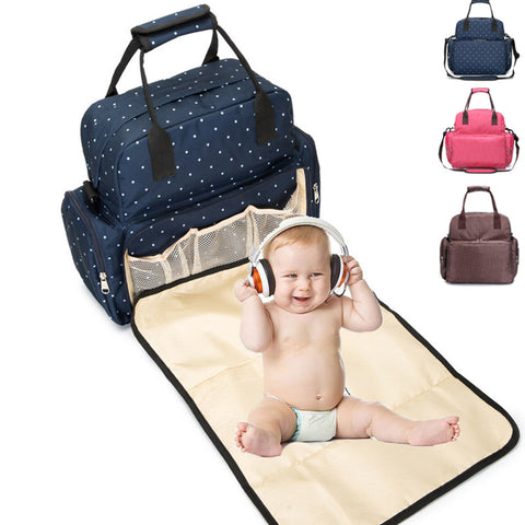 Large Diaper Bag Tote Baby Travel Changing Bags for Mom with Removable Changing Pad