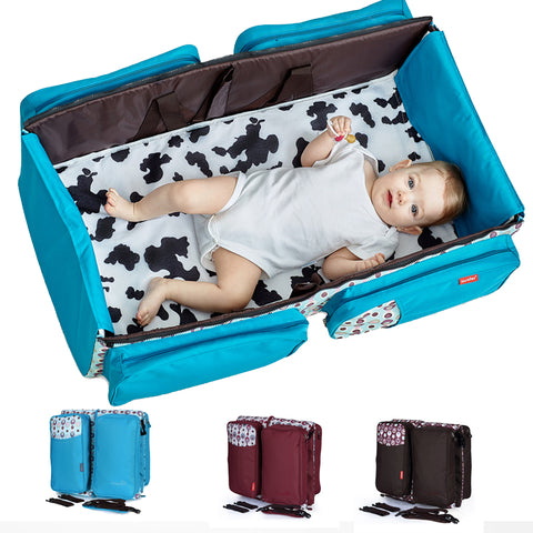 3 in 1 Multi-Functional Travel Diaper Bag Portable Bassinet & Changing Pad