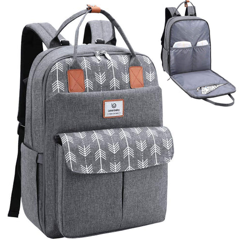Large Diaper Bag Backpack with Changing Pad and Stroller Straps