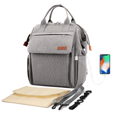 Diaper Bag Backpack with USB Charger Port