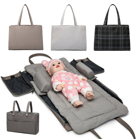 Diaper Bag with Changing Station, Portable Baby Changing Pad Diaper Tote Bags