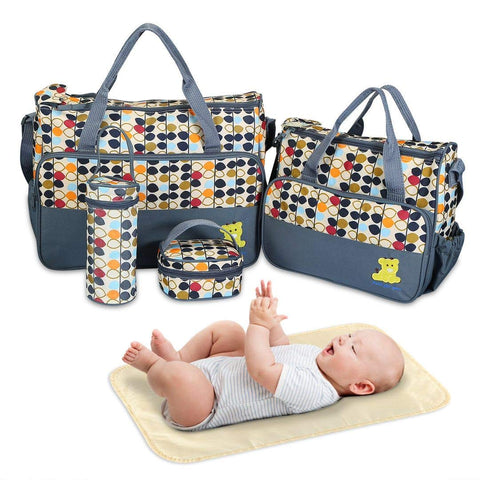 Diaper Bag Tote 5 Pieces Set Baby Bag for Baby Boy and Baby Girl Handbag