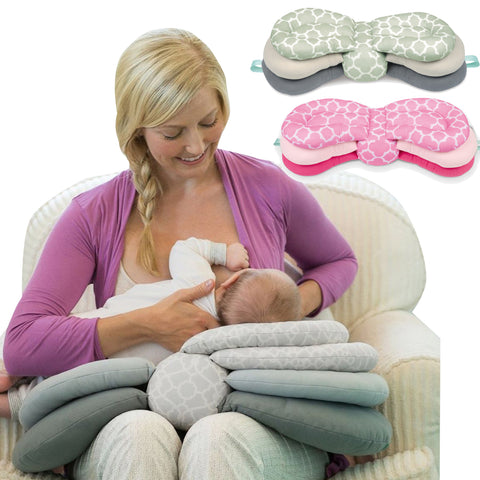 Nursing Pillow for Breastfeeding & Baby Feeding Adjustable Height Pillow