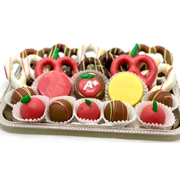 Apple of my Eye- Classic Teacher Appreciation Platter - The Dessert Ladies, custom corporate gifts, gourmet chocolate gifts,