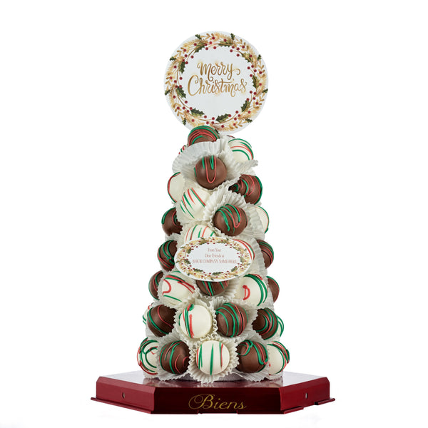 Christmas Bien Tower- Classic - The Dessert Ladies, custom corporate gifts, gourmet chocolate gifts,