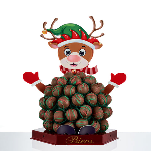 Rory the Bien Reindeer - Christmas Chocolate Centerpiece - The Dessert Ladies