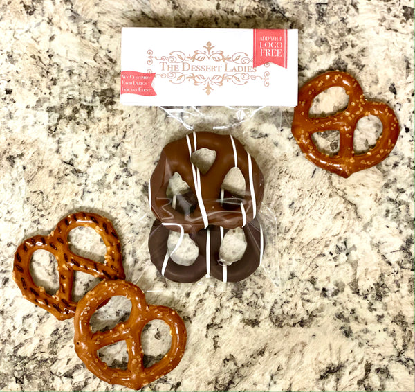 Chocolate Covered Pretzel Packs - The Dessert Ladies