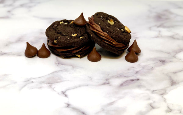 Cookie Sandwich - Double Chocolate Chocolate - The Dessert Ladies