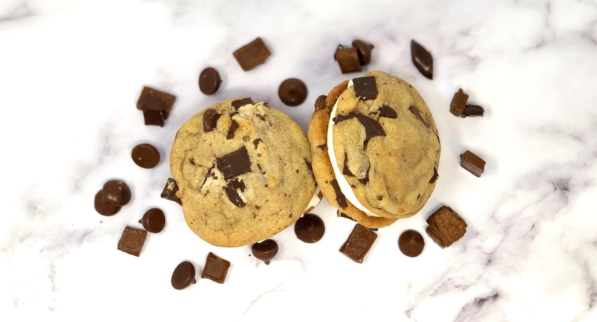 Cookie Sandwich - Chocolate Chip - The Dessert Ladies, custom corporate gifts, gourmet chocolate gifts,