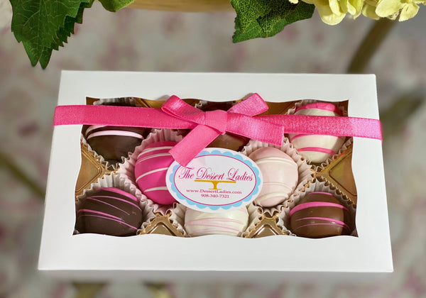 Bien Box of 8- Breast Cancer Awareness Fundraiser - The Dessert Ladies, custom corporate gifts, gourmet chocolate gifts,