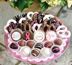 Large Mixed Chocolate Platter- Breast Cancer Awareness Fundraiser - The Dessert Ladies