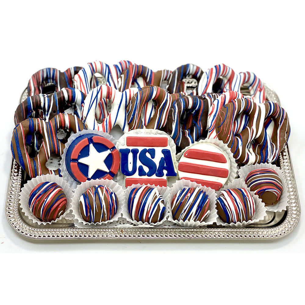 Medium Patriotic Platter - The Dessert Ladies