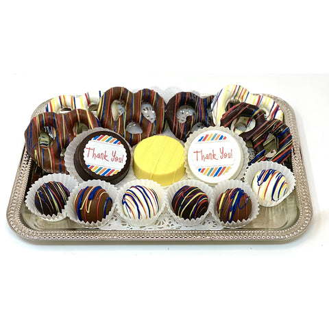 Classic Thank You Mixed Chocolate Platter - The Dessert Ladies