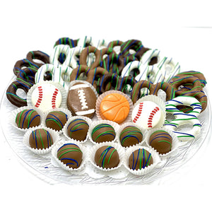 Large Father's Day Mixed Chocolate Platter- Sports - The Dessert Ladies