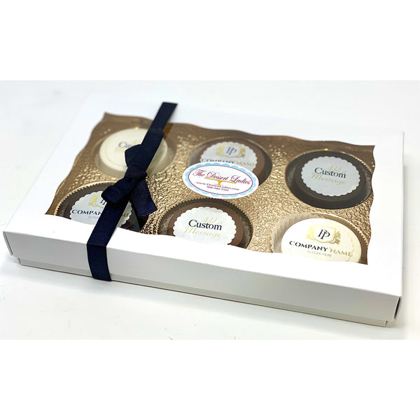 Custom Corporate Chocolate Covered Oreos - The Dessert Ladies, custom corporate gifts, gourmet chocolate gifts,
