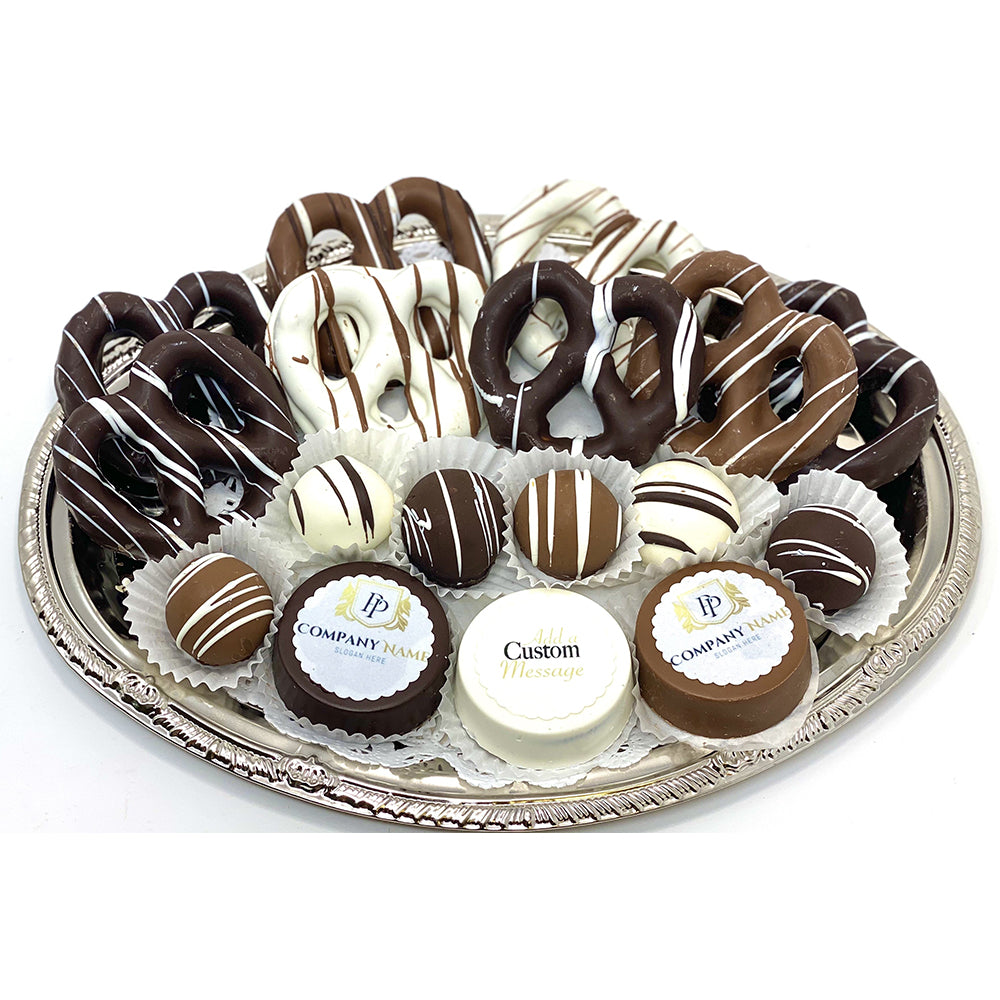 Classic Mixed Platter Corporate Gift - The Dessert Ladies, custom corporate gifts, gourmet chocolate gifts,