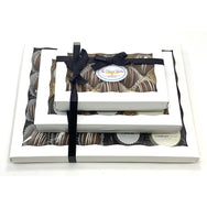 Mixed Corporate Gift Tower - The Dessert Ladies, custom corporate gifts, gourmet chocolate gifts,