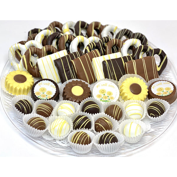 VIP Get Well Soon Platter - The Dessert Ladies, custom corporate gifts, gourmet chocolate gifts,