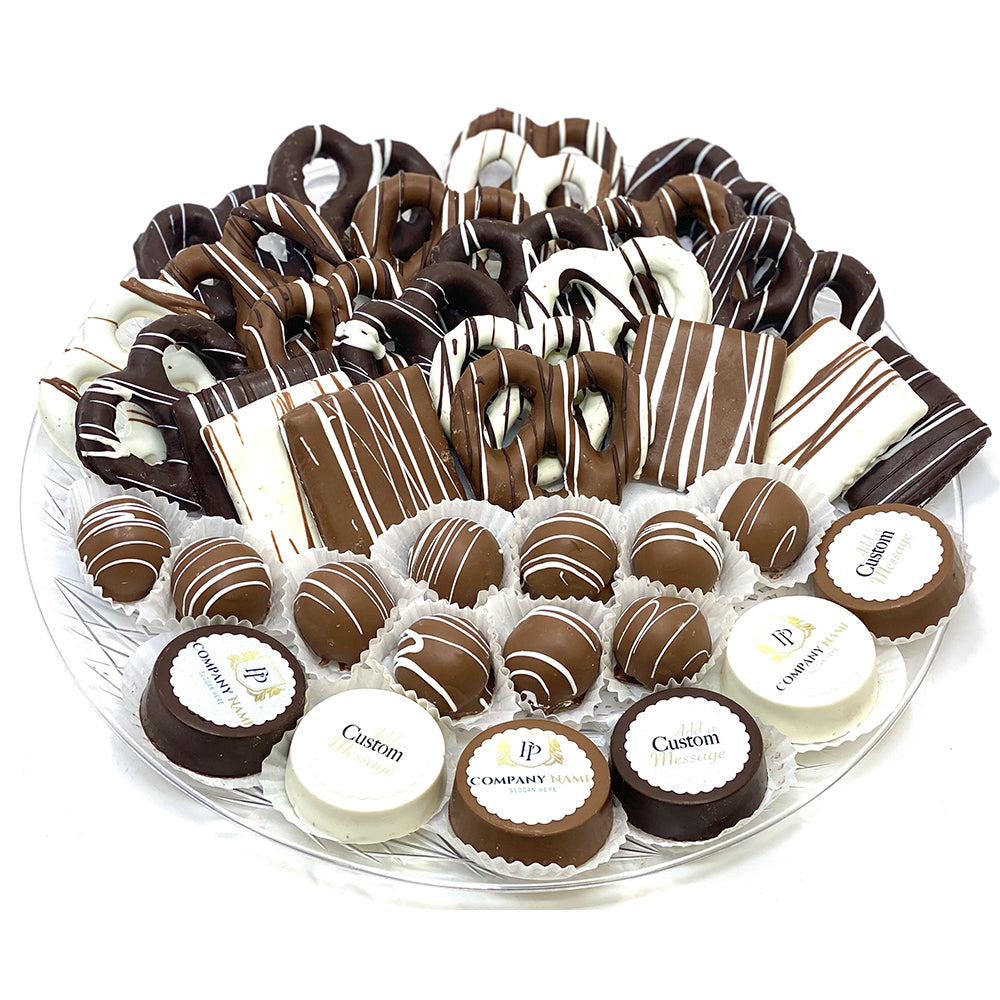 VIP Mixed Custom Platter - Custom Corporate Gift - The Dessert Ladies, custom corporate gifts, gourmet chocolate gifts,