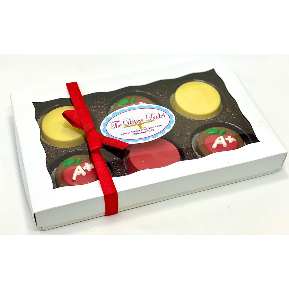 Teacher Appreciation Chocolate Covered Oreos - The Dessert Ladies, custom corporate gifts, gourmet chocolate gifts,