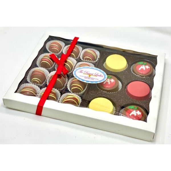 Teacher Appreciation Mixed Gift Box - The Dessert Ladies, custom corporate gifts, gourmet chocolate gifts,