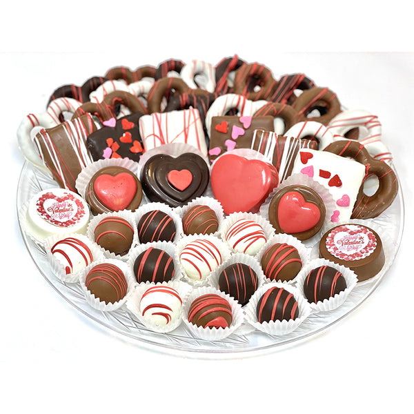 VIP Valentine's Day Platter - The Dessert Ladies, custom corporate gifts, gourmet chocolate gifts,