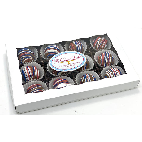 Patriotic Bien Box of 12 - The Dessert Ladies, custom corporate gifts, gourmet chocolate gifts,