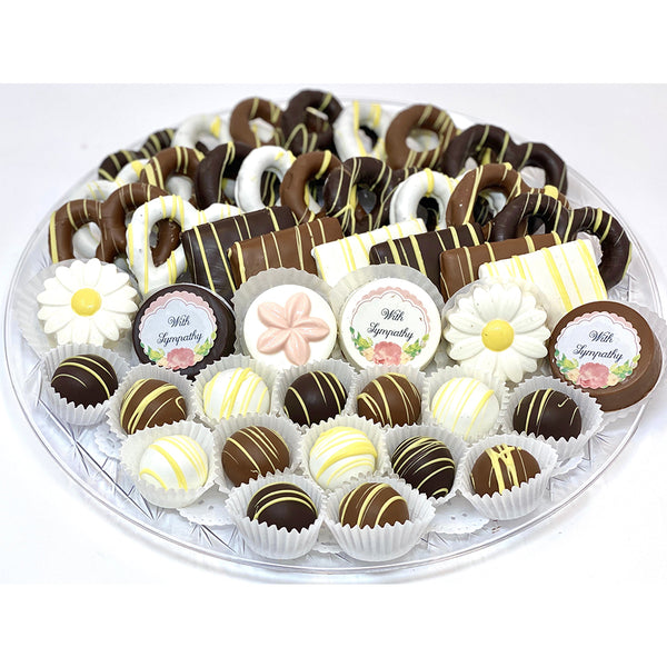 VIP Sympathy Platter - The Dessert Ladies, custom corporate gifts, gourmet chocolate gifts,