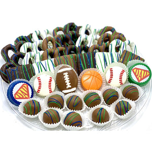 VIP Father's Day Mixed Chocolate Platter- Sports - The Dessert Ladies