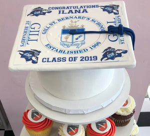 Grad Cap Cake - Customize it! - The Dessert Ladies, custom corporate gifts, gourmet chocolate gifts,