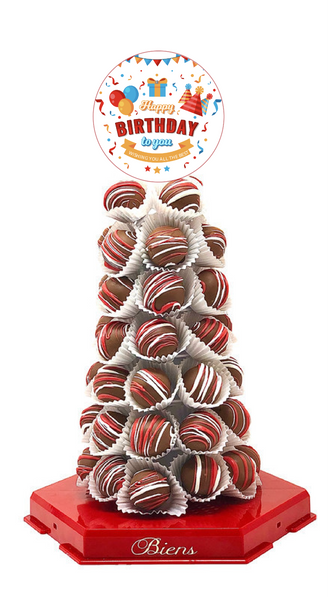 Birthday Bien Tower - The Dessert Ladies, custom corporate gifts, gourmet chocolate gifts,