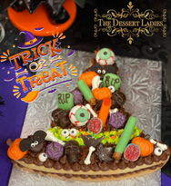 Halloween Witch Cookie Cake - The Dessert Ladies, custom corporate gifts, gourmet chocolate gifts,