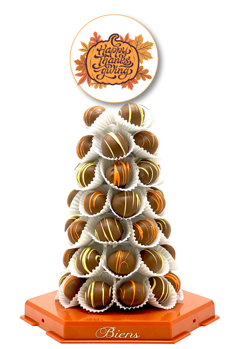 Thanksgiving Bien Tower- Fall - The Dessert Ladies, custom corporate gifts, gourmet chocolate gifts,