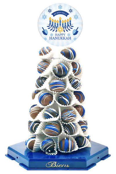 Hanukkah Bien Tower - The Dessert Ladies, custom corporate gifts, gourmet chocolate gifts,