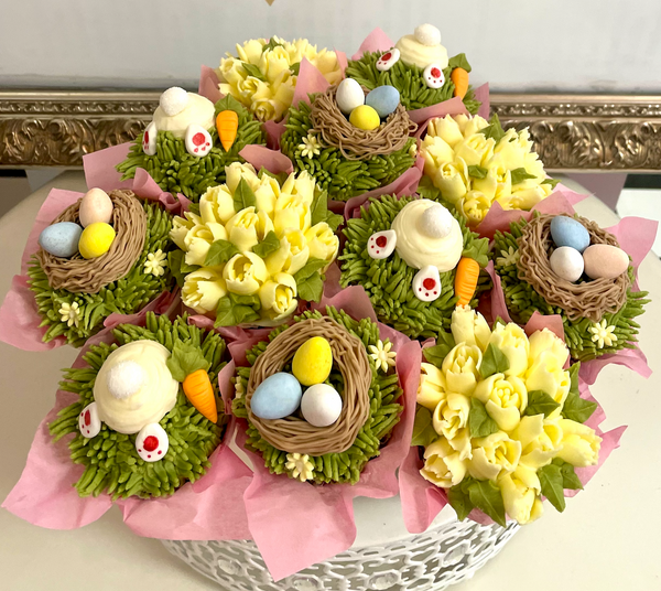 Easter Bunny Cupcake Bouquet - The Dessert Ladies