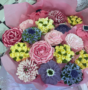 Pretty in Pink Floral Cupcake Bouquets- Local Only - The Dessert Ladies