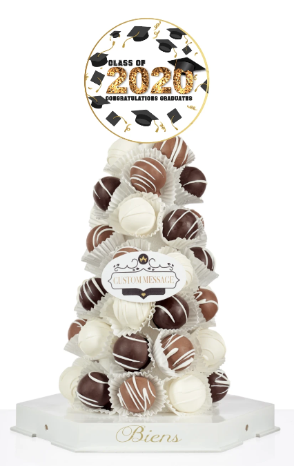 2020 Graduation Bien Tower - The Dessert Ladies, custom corporate gifts, gourmet chocolate gifts,