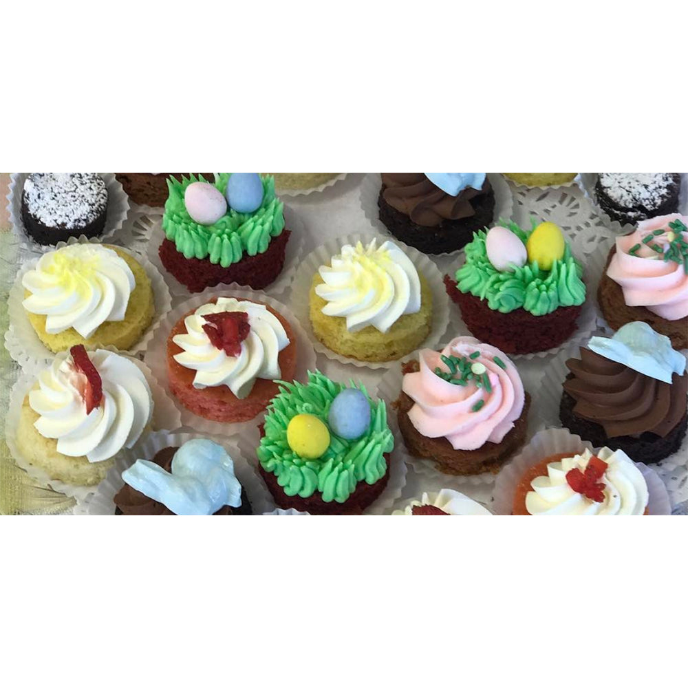 Easter Cake Tasting Platter - The Dessert Ladies, custom corporate gifts, gourmet chocolate gifts,