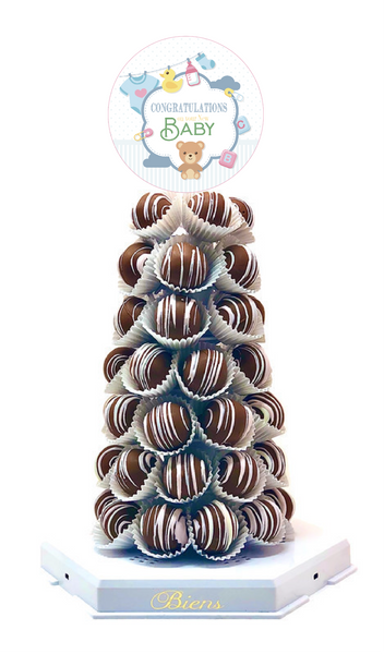 Baby Shower Bien Tower - The Dessert Ladies, custom corporate gifts, gourmet chocolate gifts,