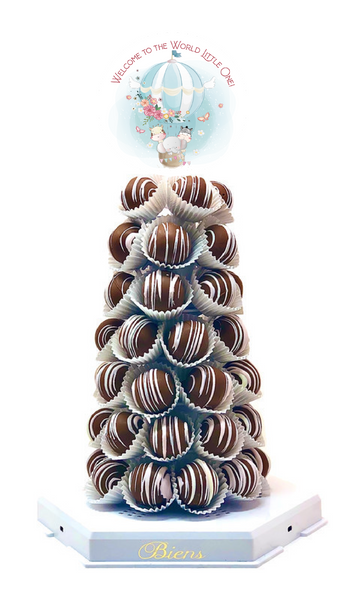 Hot Air Balloon Bien Tower - The Dessert Ladies, custom corporate gifts, gourmet chocolate gifts,
