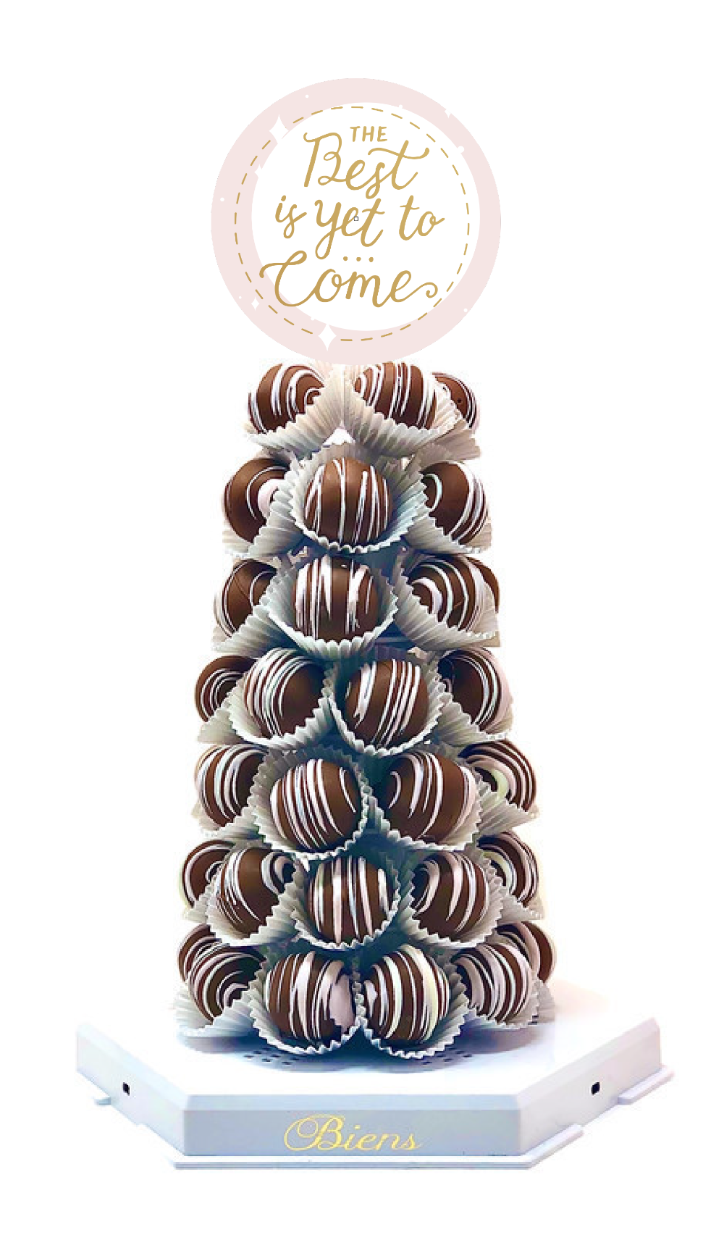 Thinking of You Bien Tower - The Dessert Ladies, custom corporate gifts, gourmet chocolate gifts,